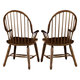 Liberty Furniture Treasures Bow Back Arm Chair in Rustic Oak Finish 17-C1051 (Set of 2)