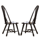 Liberty Furniture Treasures Sheaf Back Side Chair in Black 17-C4032 (Set of 2)