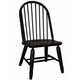 Liberty Furniture Treasures Bow Back Side Chair in Black 17-C4050 (Set of 2)
