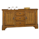Liberty Furniture Treasures Buffet in Rustic Oak Finish 17-CB6285 EST SHIP TIME IS 4 WEEKS CODE:UNIV10 for 10% Off'