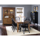 Liberty Furniture Treasures 7pc Formal Dining Room in Rustic Oak and Black 17-DRB
