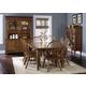 Liberty Furniture Treasures 7pc Formal Dining Room in Rustic Oak Finish - Oak 17-DRO