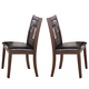 Acme Jasha Dining Chairs in Espresso with Cut-out Design 17085 (Set of 2)