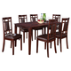 Standard Furniture Westlake 7-pc Pack Leg Table Set with 6 Chairs in Golden Brown 17282