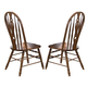 Liberty Furniture Old World Windsor Side Chair in Medium Oak Finish 18-C561S (Set of 2)
