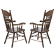 Liberty Furniture Old World Embossed Back Arm Chair in Medium Oak Finish 18-C564A (Set of 2)