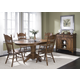 Liberty Furniture Old World 5pc Casual Dining Room in Medium Oak Finish 18-CD