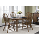 Liberty Furniture Old World 5pc Oval Leg Table Set in Medium Oak Finish 18-T566S