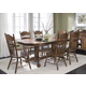 Liberty Furniture Old World 7pc Double Pedestal Table Set in Medium Oak Finish 18-T570S
