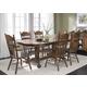 Liberty Furniture Old World 7pc Double Pedestal Table Set in Medium Oak Finish 18-T570S