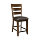 Standard Furniture Abaco Upholstered Counter Height Side Chair (Set of 2) in Dark Tobacco Brown 18920-18934