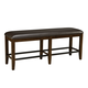 Standard Furniture Abaco Upholstered Counter Height Dining Bench in Dark Tobacco Brown 18939