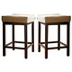 Universal Furniture Paula Deen Down Home Pull-Up Counter Stool (Set of 2) in Molasses 193602
