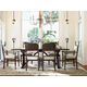 Universal Furniture Paula Deen Down Home Family-Style Table Dining Set w/ Down Home Chairs in Molasses 193655