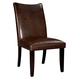 Standard Furniture La Jolla Parson's Semi PU Chair (Set of 2) in Brown 19976