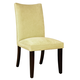 Standard Furniture La Jolla Parson's Velvet Chair (Set of 2) in Yellow 19988
