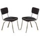 Coaster Dining Chair in Black (Set of 2) 2066