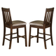 Liberty Furniture Urban Mission 24 Inch Upholstered Barstool in Dark Mission Oak Finish 27-B30724 (Set of 2)