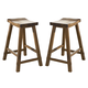 Liberty Furniture Creations II 24 Inch Sawhorse Barstool in Tobacco Finish 38-B1824 (Set of 2) EST SHIP TIME IS 4 WEEKS