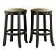 Liberty Furniture 47 Pub 24 Inch Barstool (RTA) in Rubbed Black & Cherry Finish 47-B704 (Set of 2)