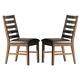 Homelegance Wilder Side Chair in Medium Brown (Set of 2) 2478S