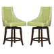 Homelegance Annabelle Counter Height Chair in Green (Set of 2) 2479-24GRS