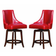 Homelegance Annabelle Counter Height Chair in Red (Set of 2) 2479-24RDS