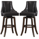 Homelegance Annabelle Pub Height Chair in Brown (Set of 2) 2479-29BRS