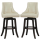 Homelegance Annabelle Pub Height Chair in Cream (Set of 2) 2479-29CRS