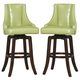 Homelegance Annabelle Pub Height Chair in Green (Set of 2) 2479-29GRS