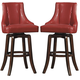 Homelegance Annabelle Pub Height Chair in Red (Set of 2) 2479-29RDS
