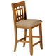 Liberty Furniture Santa Rosa Pub 30 Inch Mission Barstool in Mission Oak Finish 25-BS8630 (Set of 2)