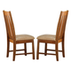 Liberty Furniture Urban Mission Upholstered Side Chair in Dark Mission Oak Finish 27-C3000 (Set of 2)