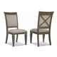 Legacy Classic Brownstone Village Upholstered Back Side Chair (Set of 2) 2760-140 KD PROMO