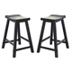 Liberty Furniture Creations II 30 Inch Sawhorse Barstool in Black 48-B1830 (Set of 2)
