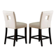 Homelegance Archstone Counter Height Chair in White (set of 2) 3270-24S1W