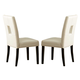 Homelegance Archstone Side Chair in White  (set of 2) 3270-S1W
