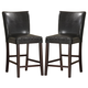 Homelegance Belvedere Counter Height Chair in Black (set of 2) 3276-24