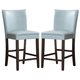 Homelegance Belvedere Counter Height Chair in Sky Blue (set of 2) 3276B-24