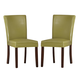 Homelegance Belvedere Side Chair in Chartreuse Yellow (set of 2) 3276YS
