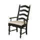 Kincaid Homecoming Solid Wood Ladderback Arm Chair (Set of 2) 33-062B in Vintage Pine & Black CODE:UNIV20 for 20% Off