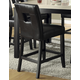 Homelegance Archstone Counter Height Chair in Black (set of 2) 33270-24S1BK