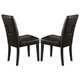 Homelegance Archstone Side Chair in Black (set of 2) 33270-S1BK