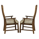 Somerton Craftsman Upholstered Arm Chair in Brown 417-41 (Set of 2)