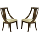 Somerton Manhattan Slipper Dining Chair in Brown 419-36 (Set of 2)