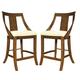 Somerton Gatsby Bar Stool in Brown 422-38 (Set of 2)