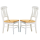 Coaster Side Chair with Lyre Back in White and Natural Finish (Set of 2) 4222