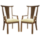Somerton Dakota Arm Chair in Brown 425-46 (Set of 2)