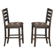 Homelegance Natick Counter Height Chair in Warm Espresso (set of 2) 5341-24