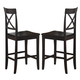 Homelegance Billings Counter Height Chair in Black (set of 2) 5366-24